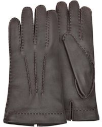 FORZIERI - Herren-Handschuhe aus Hirschleder mit Kaschmirfutter - Lyst