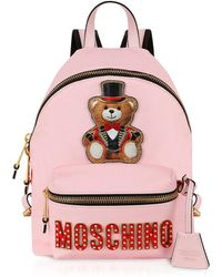 Moschino - Teddy Bear Circus Patch Pink Backpack - Lyst