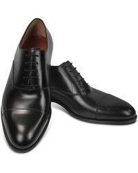 Fratelli Rossetti - Black Calf Leather Cap Toe Oxford Shoes - Lyst