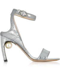 Nicholas Kirkwood - Silver Sequins 90mm Lola Pearl Sandals - Lyst