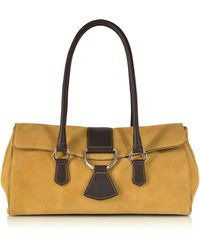 Buti - Camel Suede And Leather Satchel Bag - Lyst