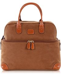 Bric's - Life - Camel Micro Suede Beauty Case Bag - Lyst