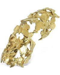 Bernard Delettrez - Goldtone Butterflies Articulated Bronze Ring - Lyst