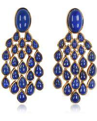 Aurelie Bidermann - Cherokee 18k Gold-plated Drop Earrings W/lapis Lazuli Stones - Lyst