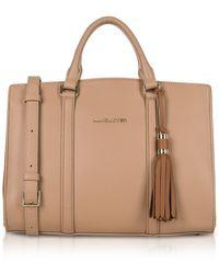 Lancaster Paris - Mademoiselle Ana Nude/hazelnut Leather Large Satchel Bag - Lyst