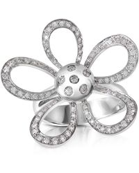 FORZIERI - 0.57ct Diamond Flower 18k Gold Ring - Lyst