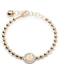 Rebecca - Boulevard Stone Yellow Gold Over Bronze Bracelet W/stones - Lyst