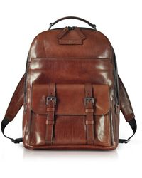 The Bridge - Byron Brown Leather Men's Backpack - Lyst