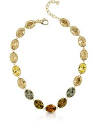 FORZIERI - Golden Crystal Necklace - Lyst
