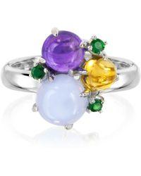Mia & Beverly - Gemstones 18k White Gold Ring - Lyst