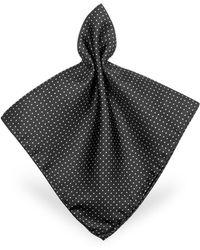 Forzieri | Mini Polkadot Twill Silk Pocket Square | Lyst