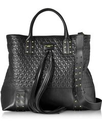 Balmain - Domaine Black Quilted Leather Men's Tote Bag - Lyst