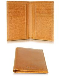 Pineider - Country Cognac Leather Vertical Wallet - Lyst