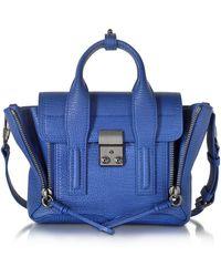 3.1 Phillip Lim - Cobalt Blue Leather Pashli Mini Satchel - Lyst