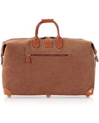 Bric's - Life Camel Micro-suede 22'' Duffle Bag - Lyst