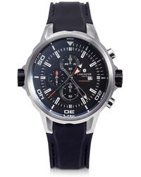 Lancaster - Space Shuttle Stainless Steel And Silicone Chronograph Watch - Lyst