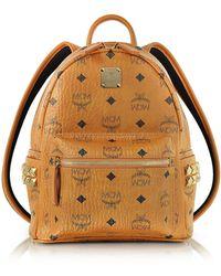 MCM - Cognac Mini Stark Backpack - Lyst