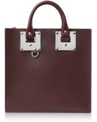 Sophie Hulme - Oxblood Saddle Leather Square Albion Tote - Lyst