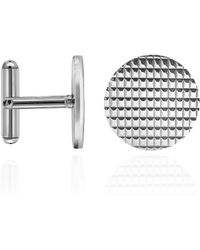 FORZIERI - Round Decorated Sterling Silver Cufflinks - Lyst