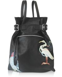 RED Valentino - Black Leather Backpack - Lyst