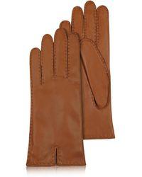 FORZIERI - Gants femme marron en cuir italien doublé de cachemire - Lyst