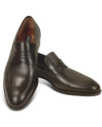 Fratelli Rossetti - Dark Brown Calf Leather Penny Loafer Shoes - Lyst