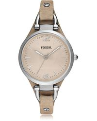 Fossil - Georgia Riley Stainless Steel Women's Watch - Lyst