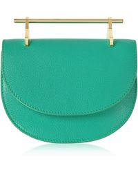 M2malletier - Pure Jade Lux Leather Mini Half Moon Bag - Lyst
