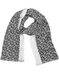 Forzieri | Paisley Print Silk Reversible Men's Scarf | Lyst