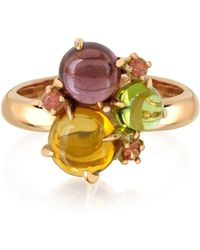 Mia & Beverly - Gemstones 18k Rose Gold Ring - Lyst