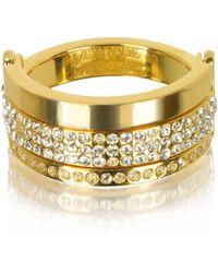 Vita Fede - Bardot Gold Tone Ring W/crystals - Lyst