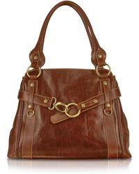 Chiarugi - Handmade Brown Genuine Leather Tote Bag - Lyst