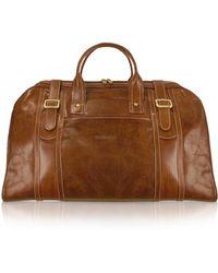 Chiarugi - Handmade Brown Genuine Italian Leather Duffle Travel Bag - Lyst