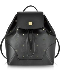 MCM - Claudia Studs Black Small Backpack - Lyst