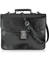 L.A.P.A. - Classic Black Leather Briefcase - Lyst