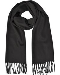 Mila Schon - Cashmere And Wool Fringed Long Scarf - Lyst