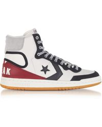 836f5cbec6ea Converse - Fastbreak Hi Light Grey And Storm Wind Leather High Top Men s  Trainers - Lyst