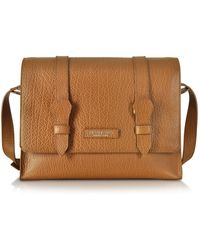 The Bridge - Embossed Leather Messenger - Lyst 4f94362dbae12