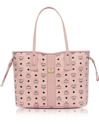 MCM - Shopper Project Visetos Soft Pink Medium Reversible Tote Bag - Lyst