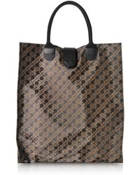 Gherardini - Signature Coated Canvas Softy Foldable Tote Bag - Lyst
