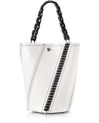 Proenza Schouler - Black And White Leather Medium Hex Bucket Bag W/whipstitch - Lyst