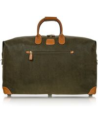 Bric's - Life Olive Green Micro-suede 22'' Duffle Bag - Lyst