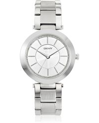 DKNY - Stanhope Silver Tone Stainless Steel Women's Watch - Lyst