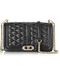 Rebecca Minkoff - Black Quilted Leather Love Crossbody Bag - Lyst