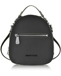 Armani Jeans - Small Black Eco Leather Backpack - Lyst