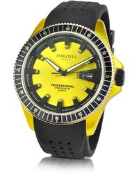 FORZIERI - Yellow Aluminum Case Watch W/rubber Strap - Lyst