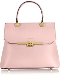 Le Parmentier - Atlanta Candy Pink Leather Top Handle Satchel Bag W/shoulder Strap - Lyst