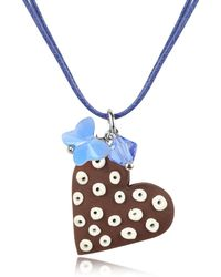 Dolci Gioie - Chocolate Heart Cake Pendant W/lace - Lyst