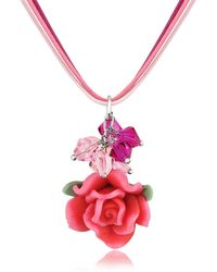 Dolci Gioie - Rose Pendant W/lace - Lyst