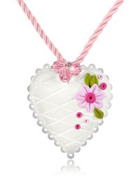 Dolci Gioie - Sterling Silver White Heart Cake Necklace - Lyst